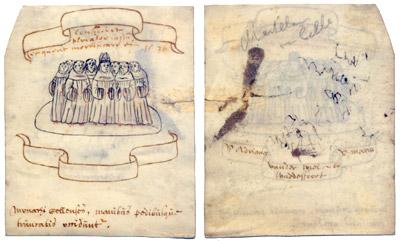 Dieses Pergament ist eine der ältesten Darstellungen der Neuzeller Märtyrer