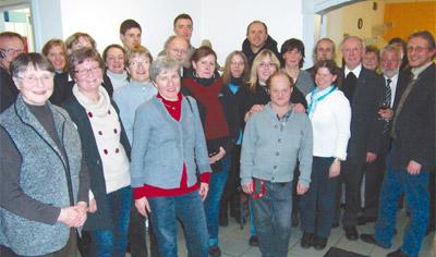 Freude bei Mitarbeitern und Gästen der Feier über das 100-jährige Bestehen der Erfurter Caritas.
